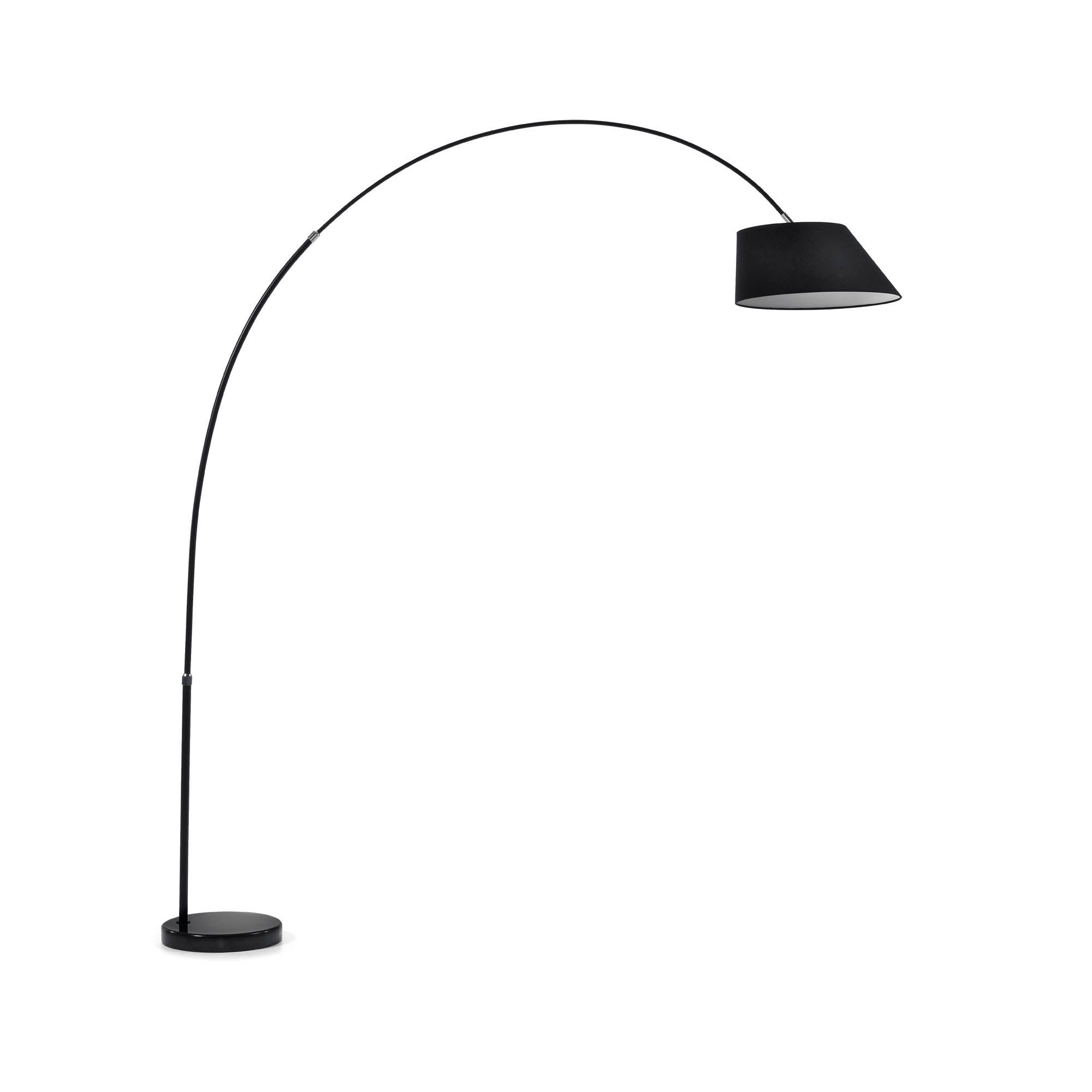 Kave home - lampadaire may, noir