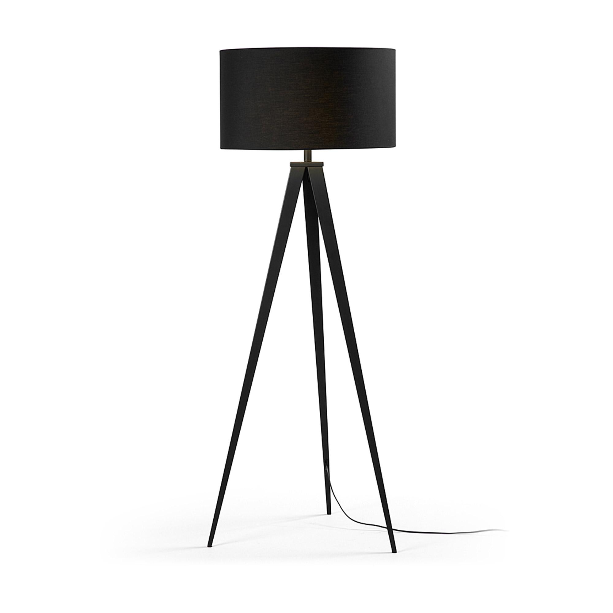 Kave home - lampadaire iguazu, noir