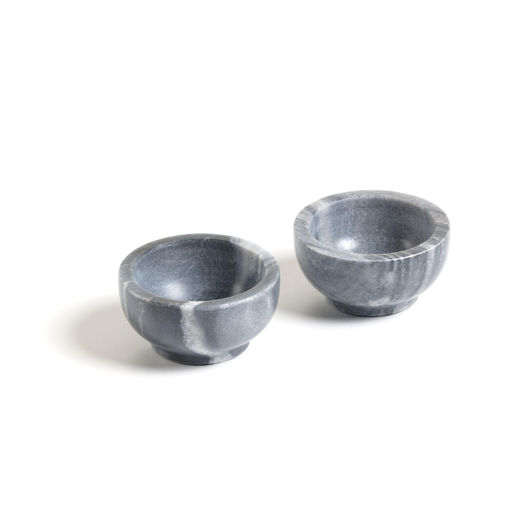 Kave home - set de 2 bols callhan marbre gris...