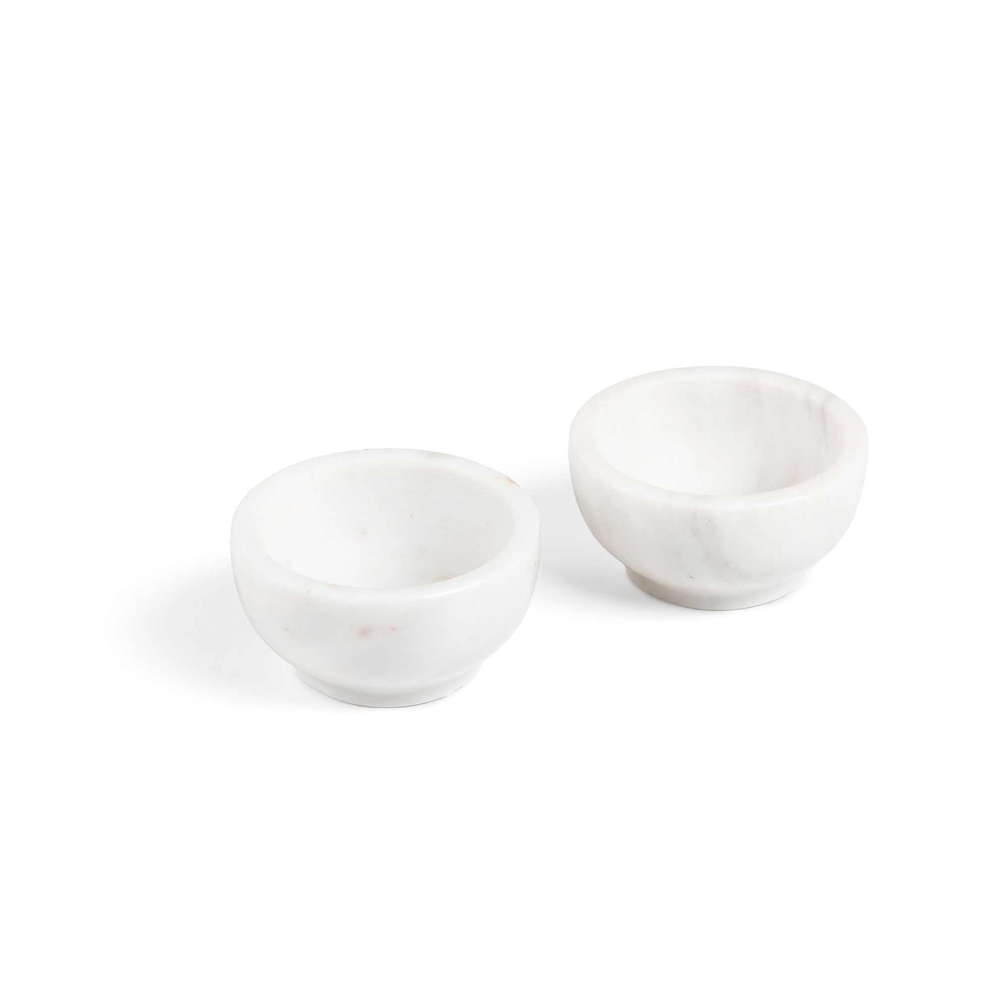 Kave home - set de 2 bols callhan marbre blanc