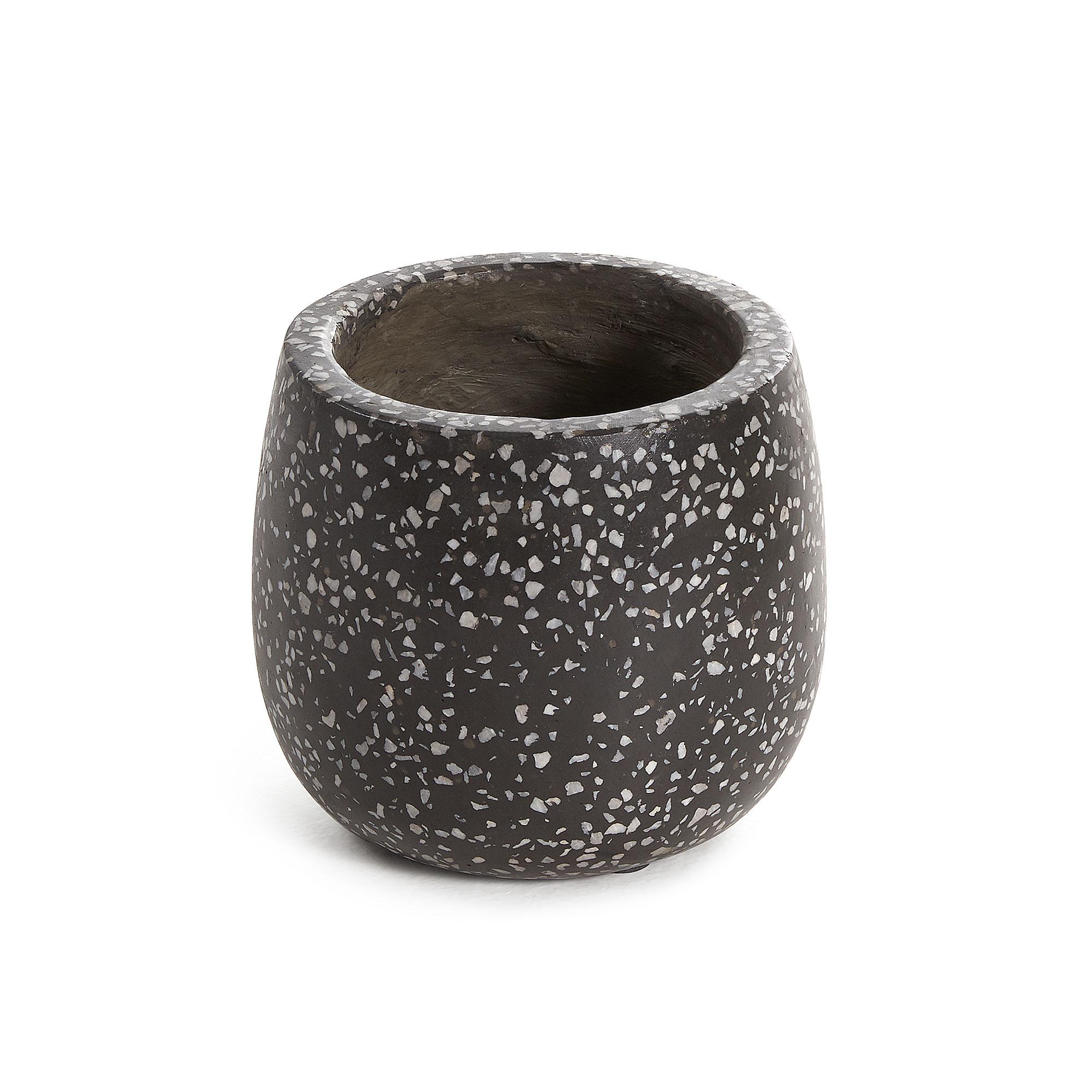 Kave home - pot de fleurs braydon noir