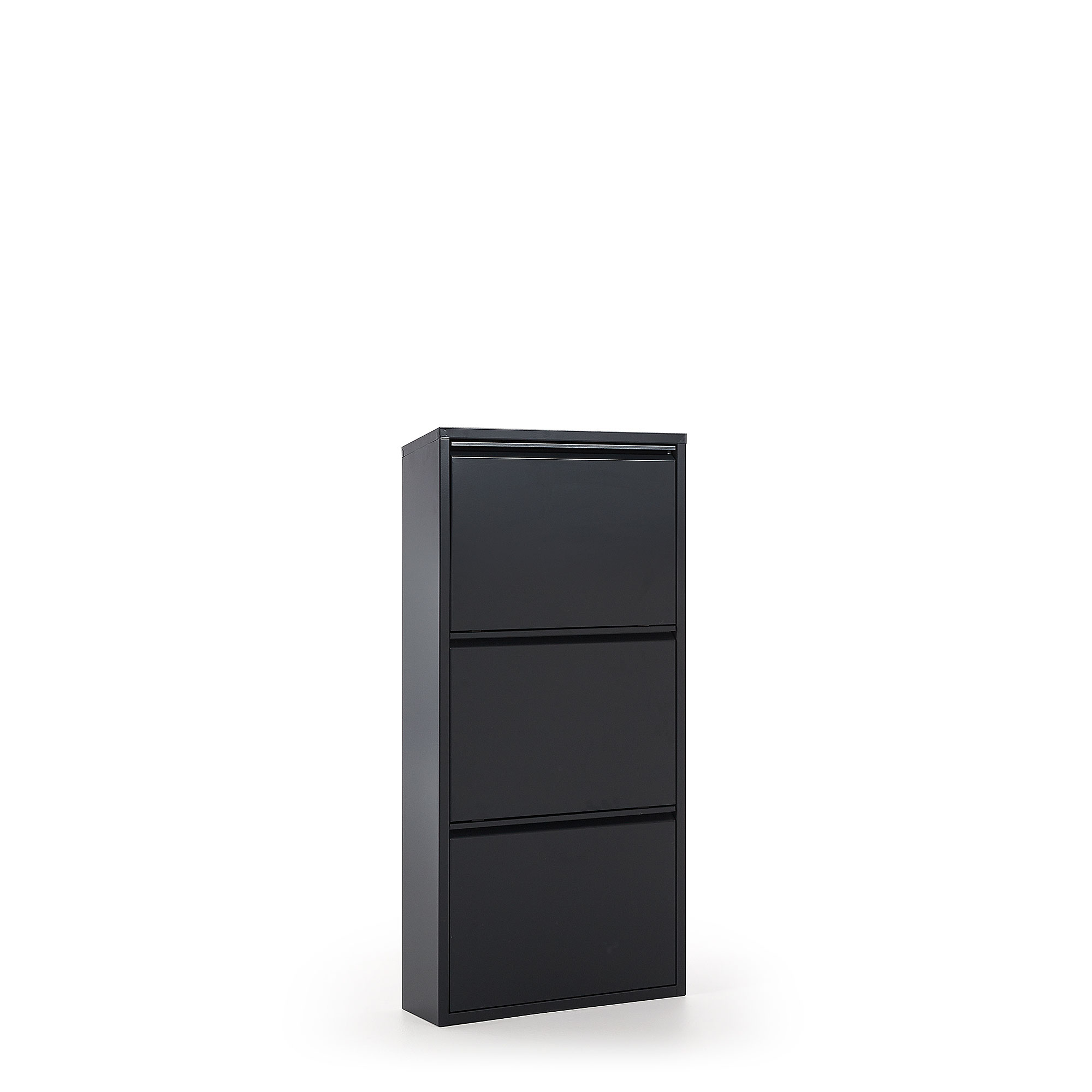 Kave Home - Ode Schuhregal 50 x 103 cm, 3-türig, anthrazit | Flur & Diele > Schuhschränke und Kommoden > Schuhregal | Kave Home