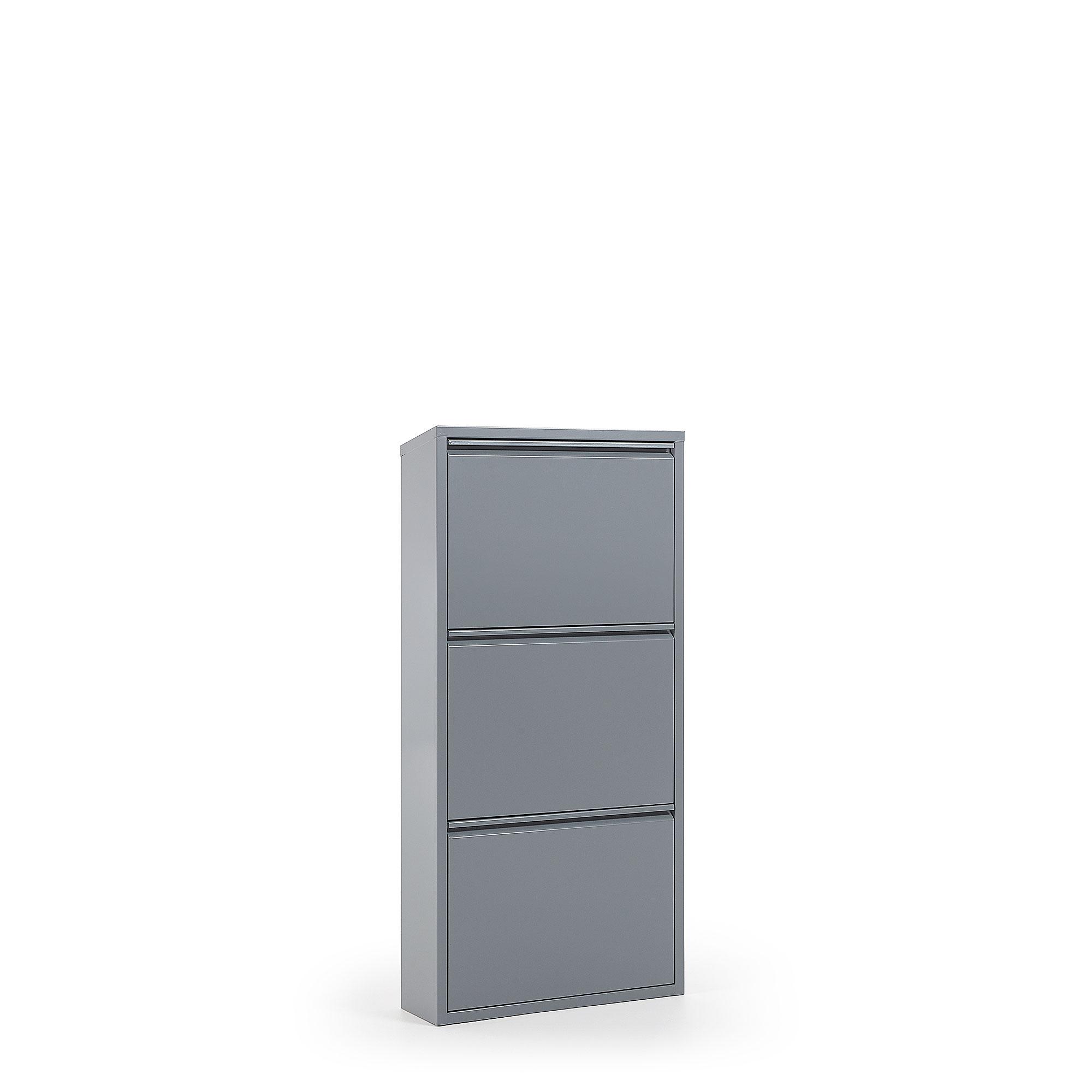 Kave Home - Ode Schuhregal 50 x 103 cm, 3-türig, grau | Flur & Diele > Schuhschränke und Kommoden > Schuhregal | Kave Home