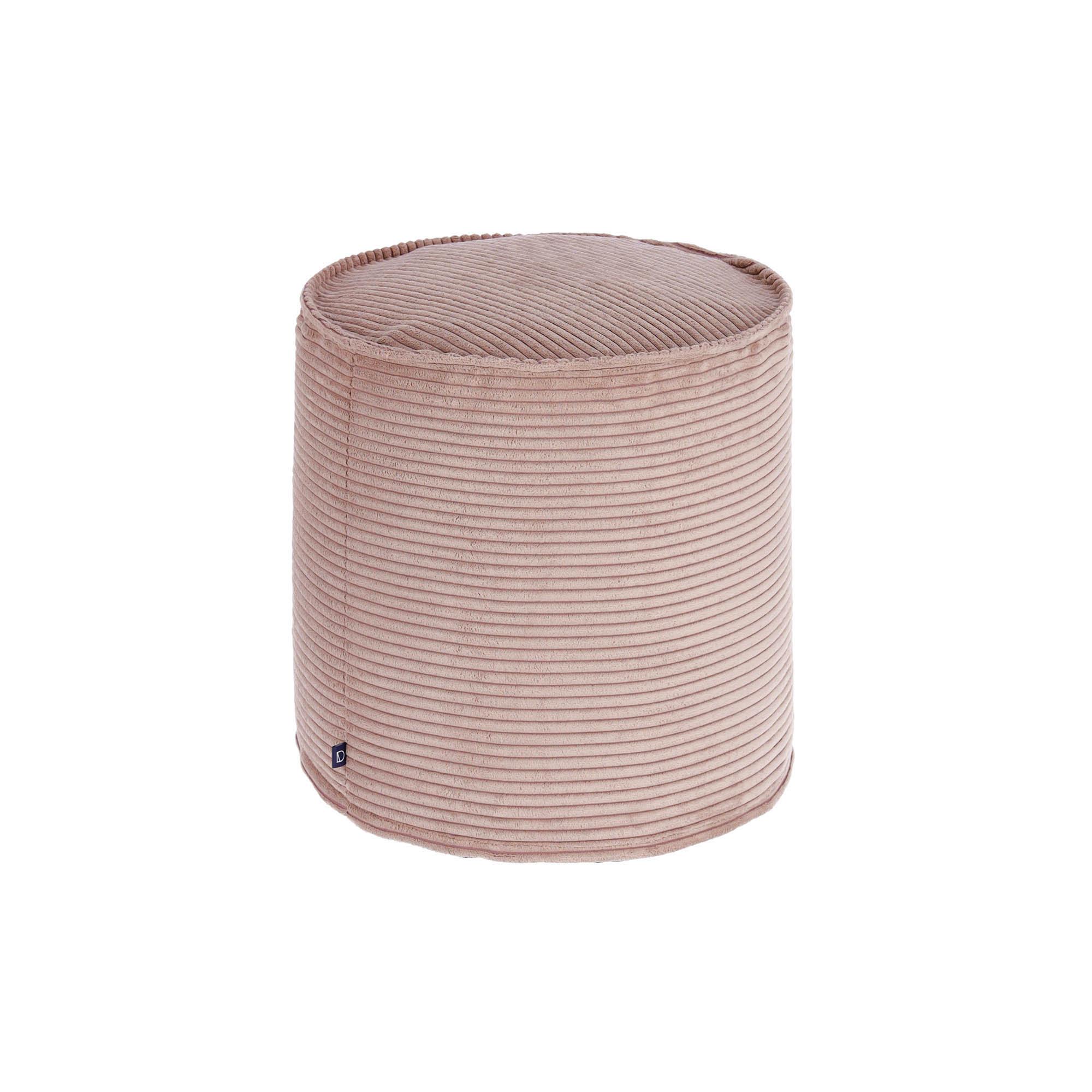 Kave Home - Kleiner Zina Pouf Ø 40 cm, rosa Kord | Wohnzimmer > Hocker & Poufs > Poufs | Kave Home