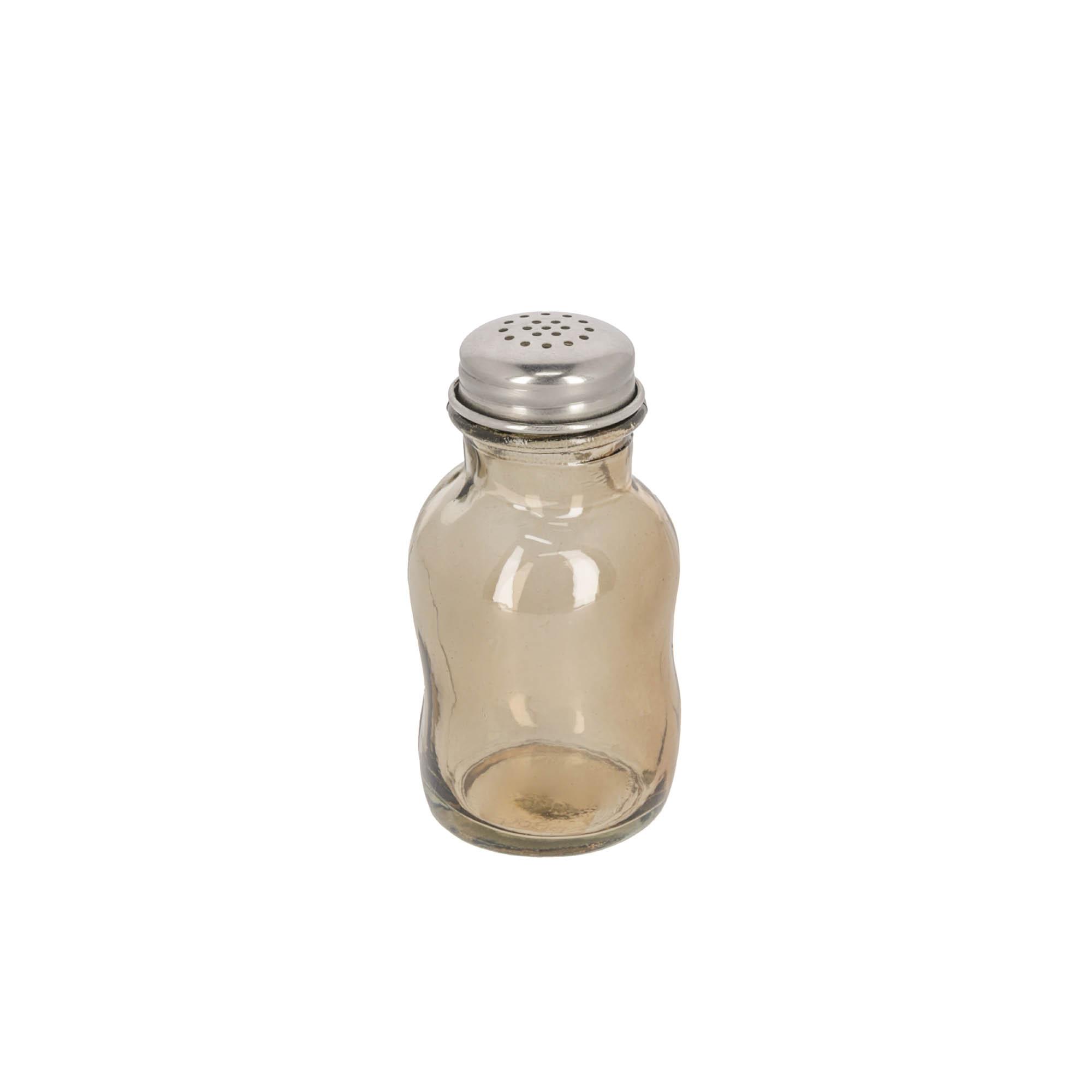 Kave home - salière rohan en verre marron 100%...