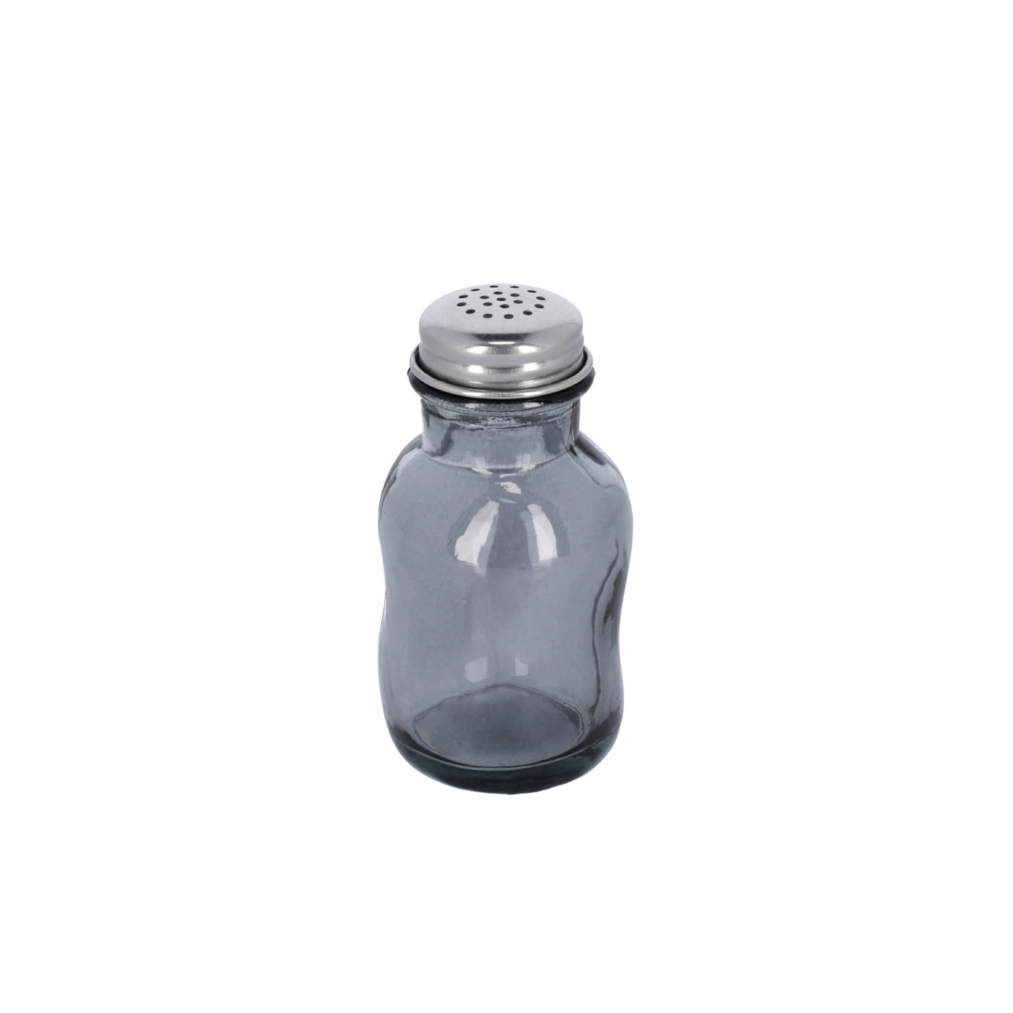 Kave home - salière rohan bleu en verre 100%...