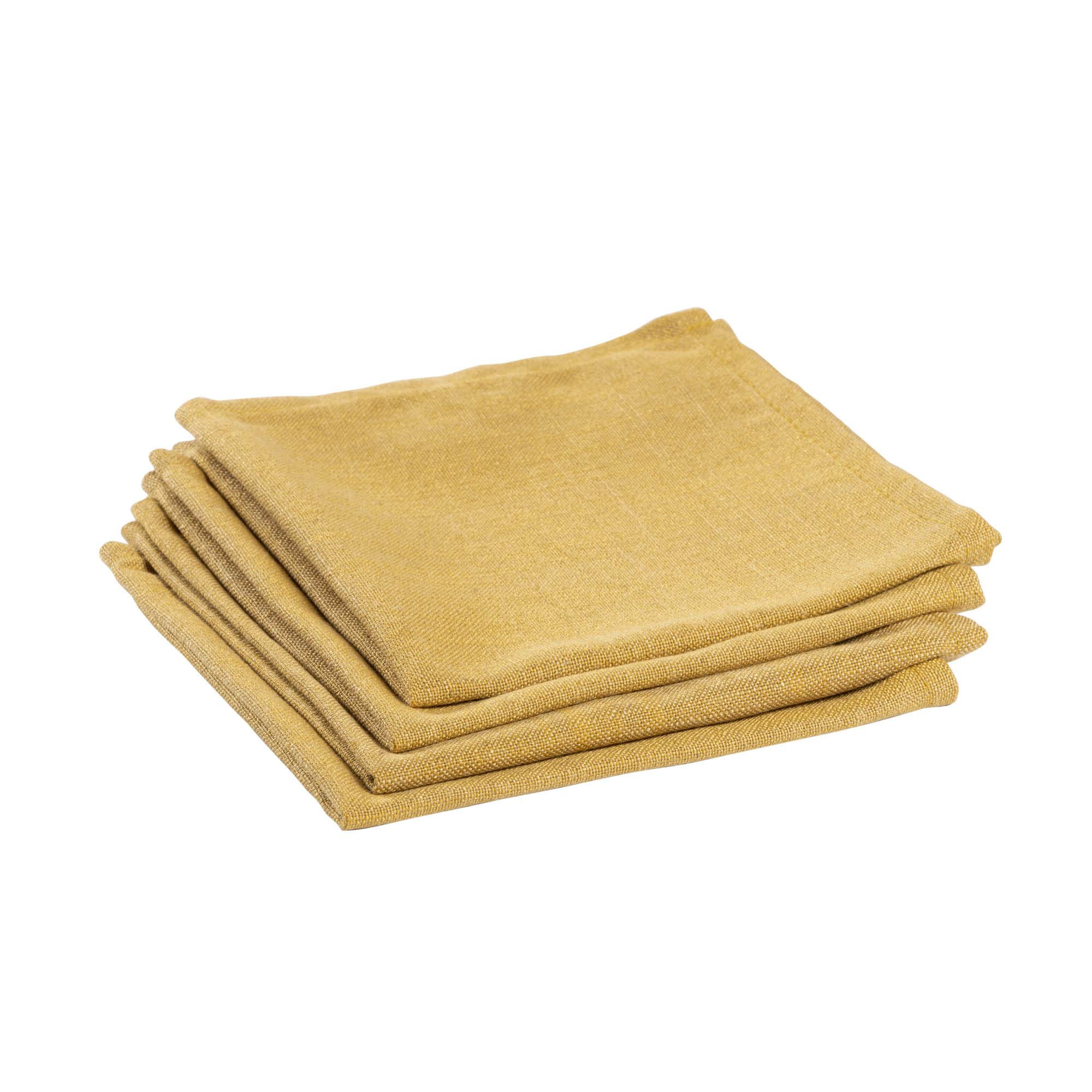 Kave home - lot de 4 serviettes de table samay...