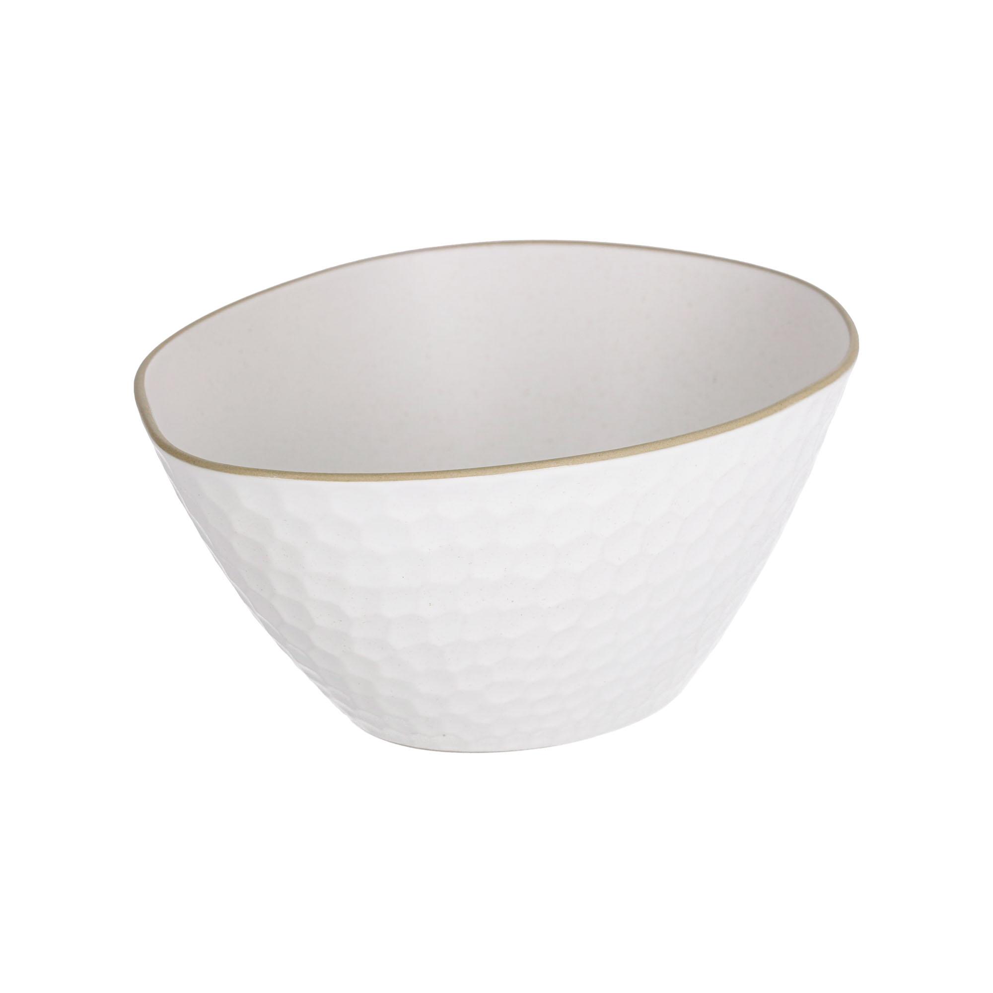 Kave home - bol manami grand en céramique blanc