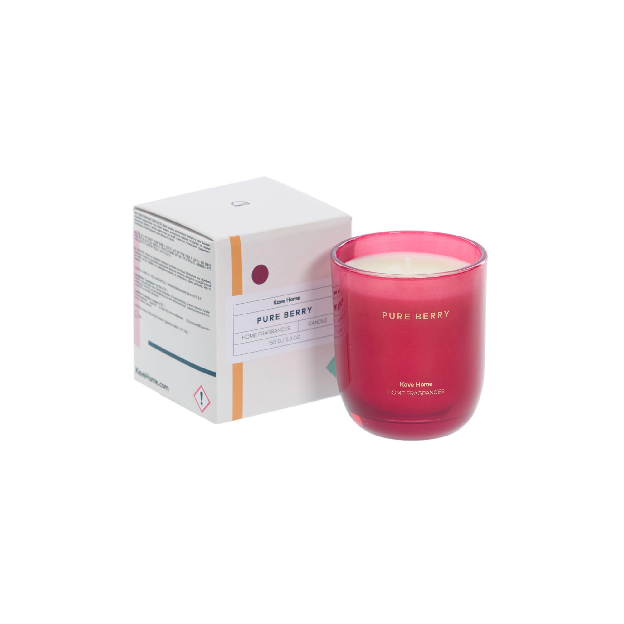 Kave home - bougie parfumée pure berry