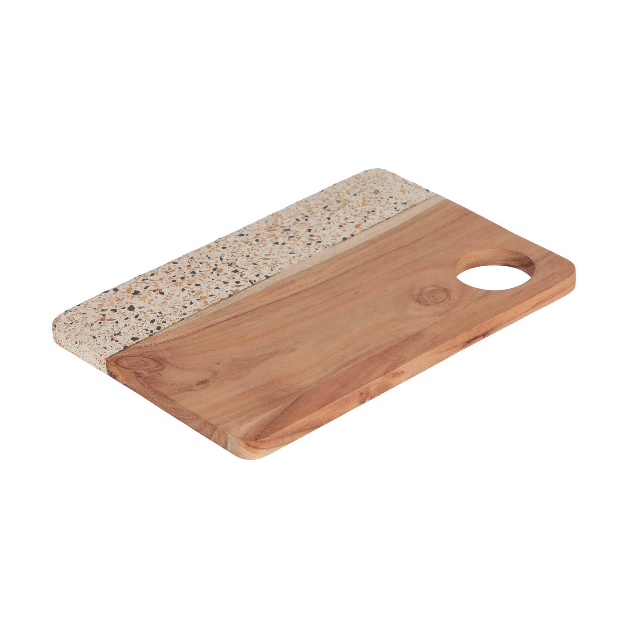 Kave home - plateau verna rectangulaire en bois...