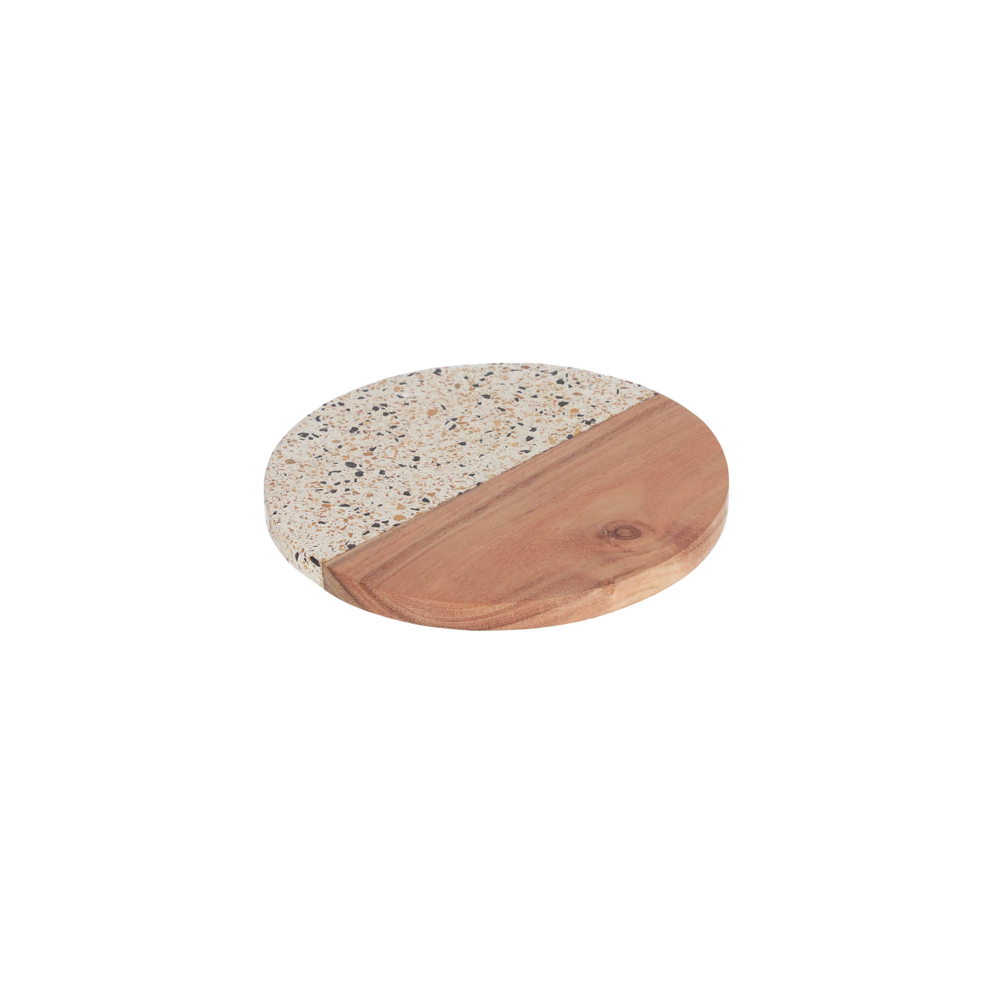 Kave home - plateau verna ronde en bois et...