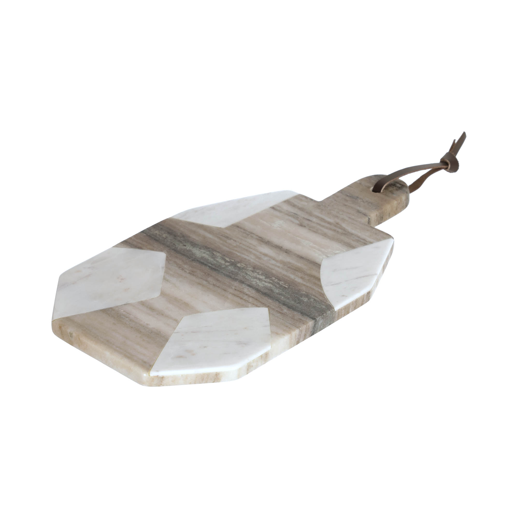 Kave home - plateau vanina octogonal en marbre...