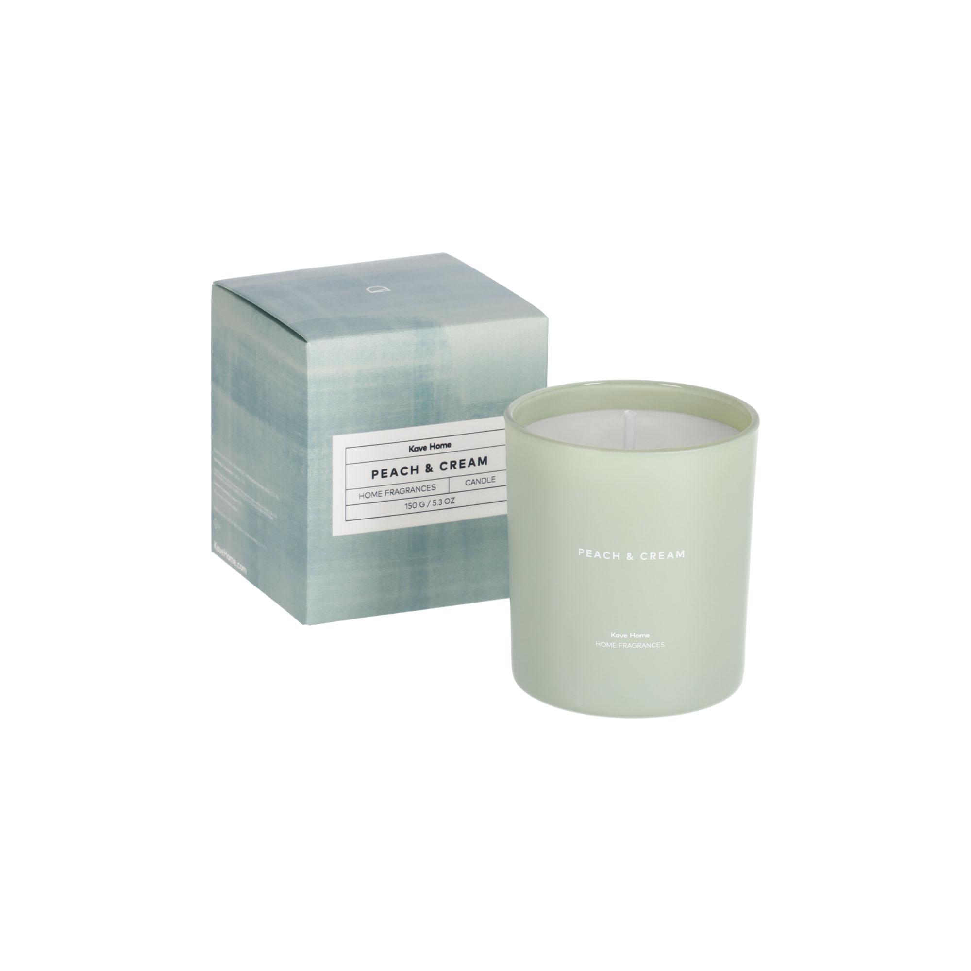 Kave home - bougie parfumée peaches & cream 150...