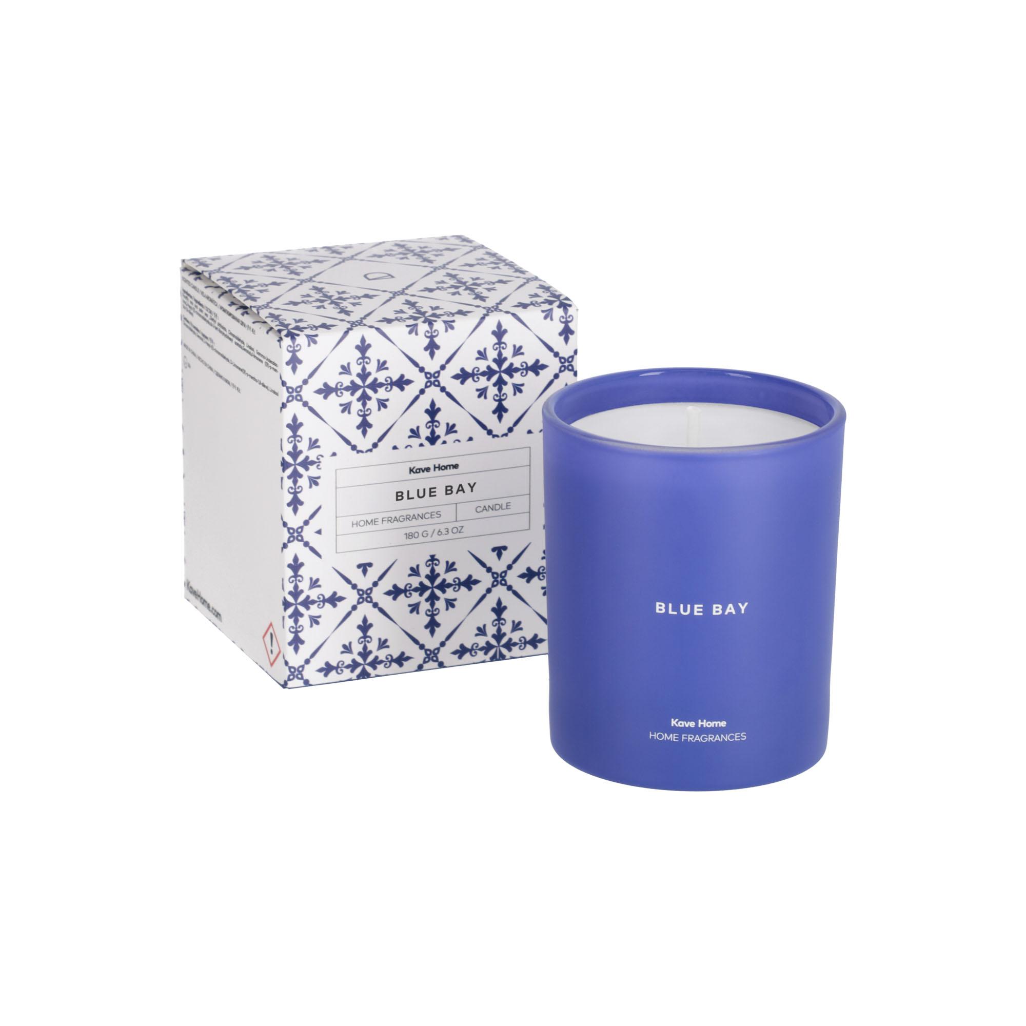 Kave home - bougie parfumée blue bay 180 gr