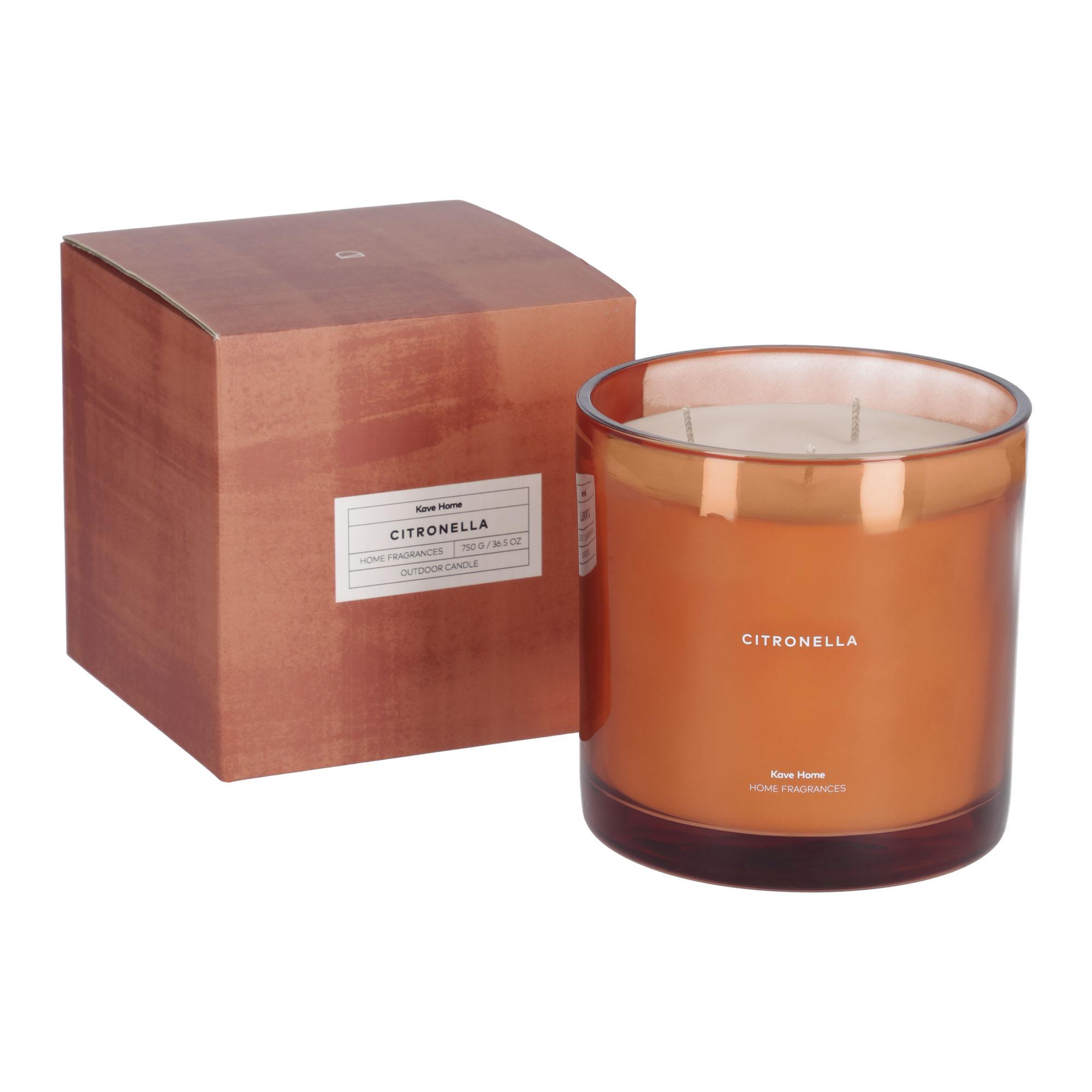 Kave home - bougie parfumée citronella orange...