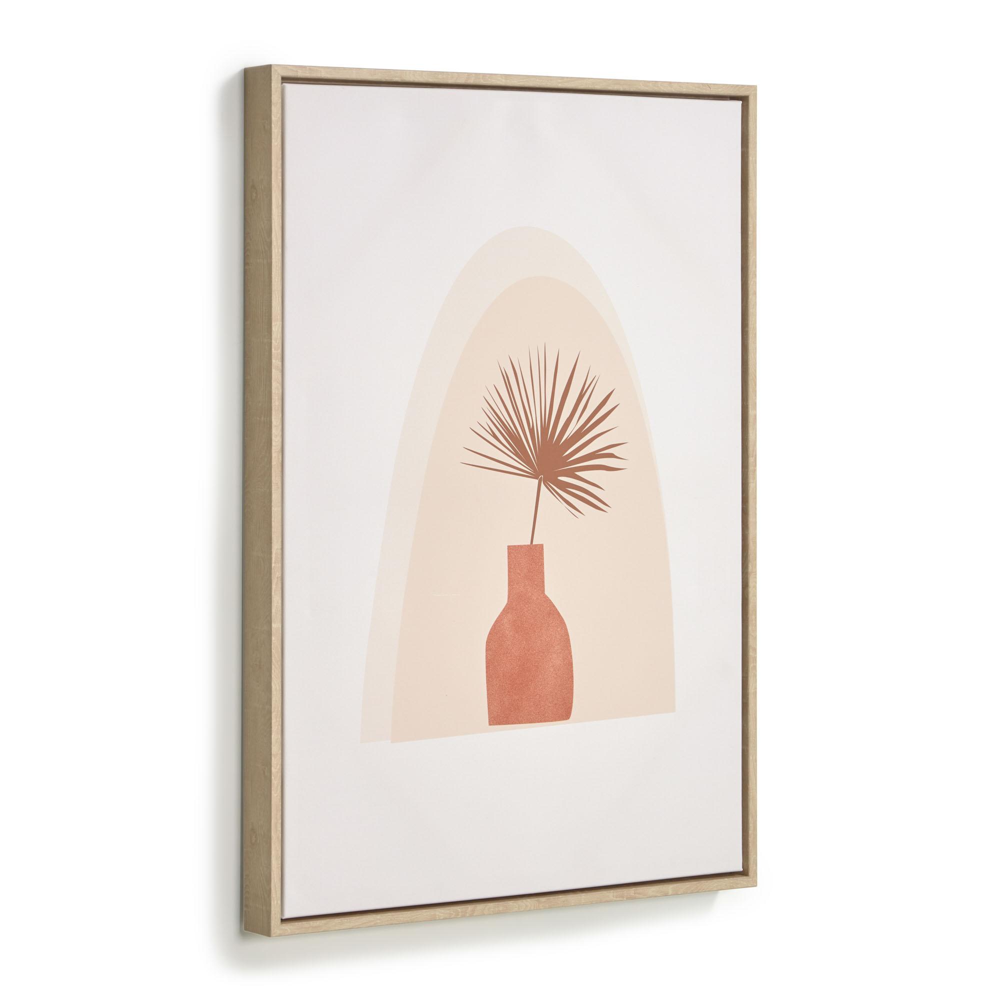 Kave home - tableau izem vase avec fleurs...