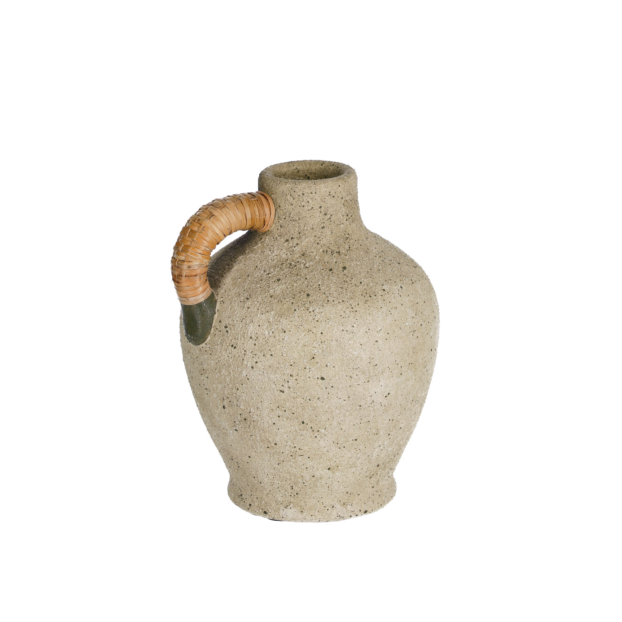 Kave home - vase agle céramique gris 25 cm