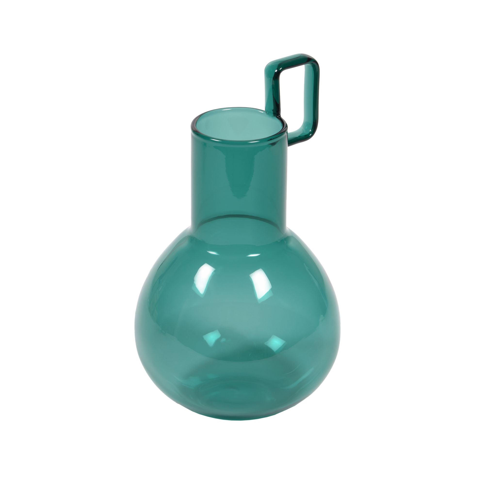 Kave home - vase iarena verre turquoise 16,5 cm