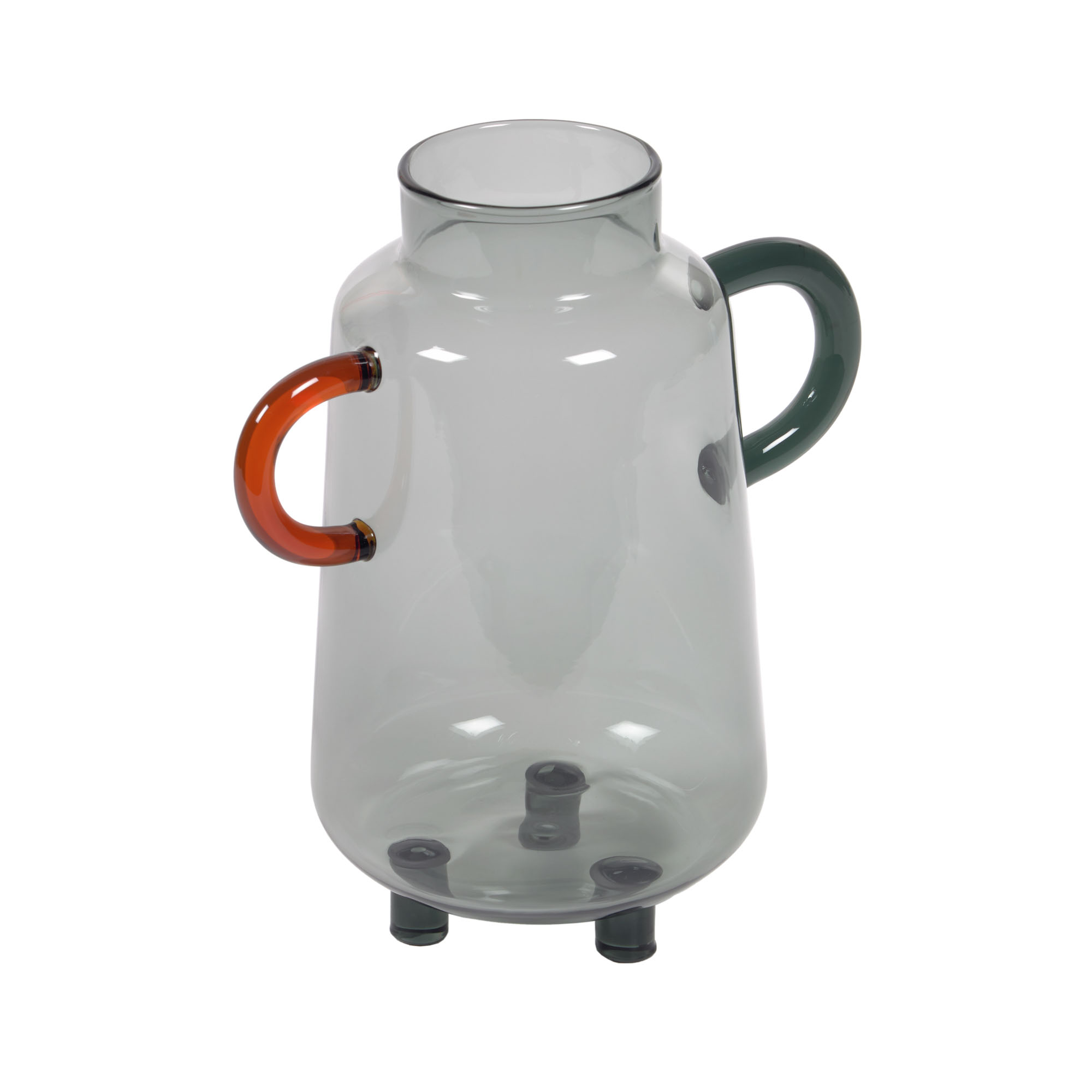 Kave home - vase kei en verre gris et...