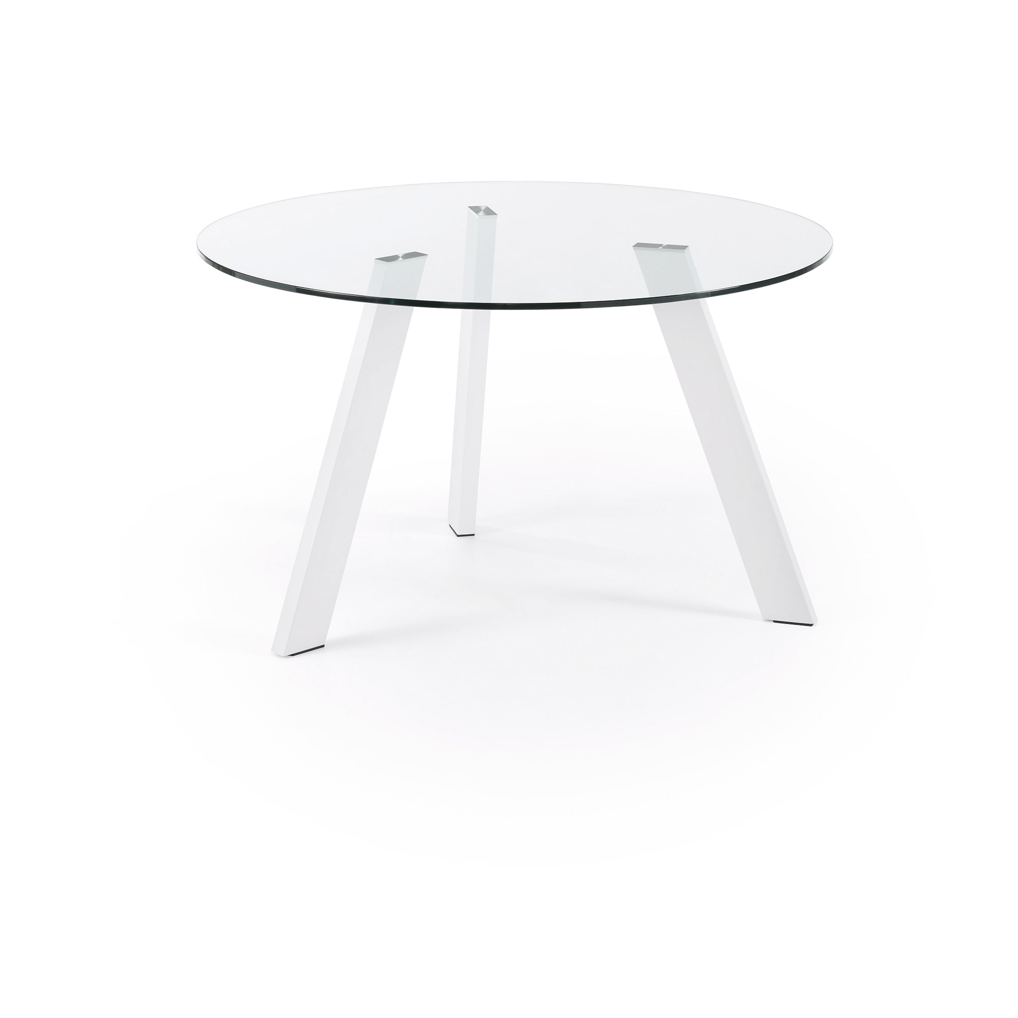 Kave home - table carib Ø 130 cm verre pieds...