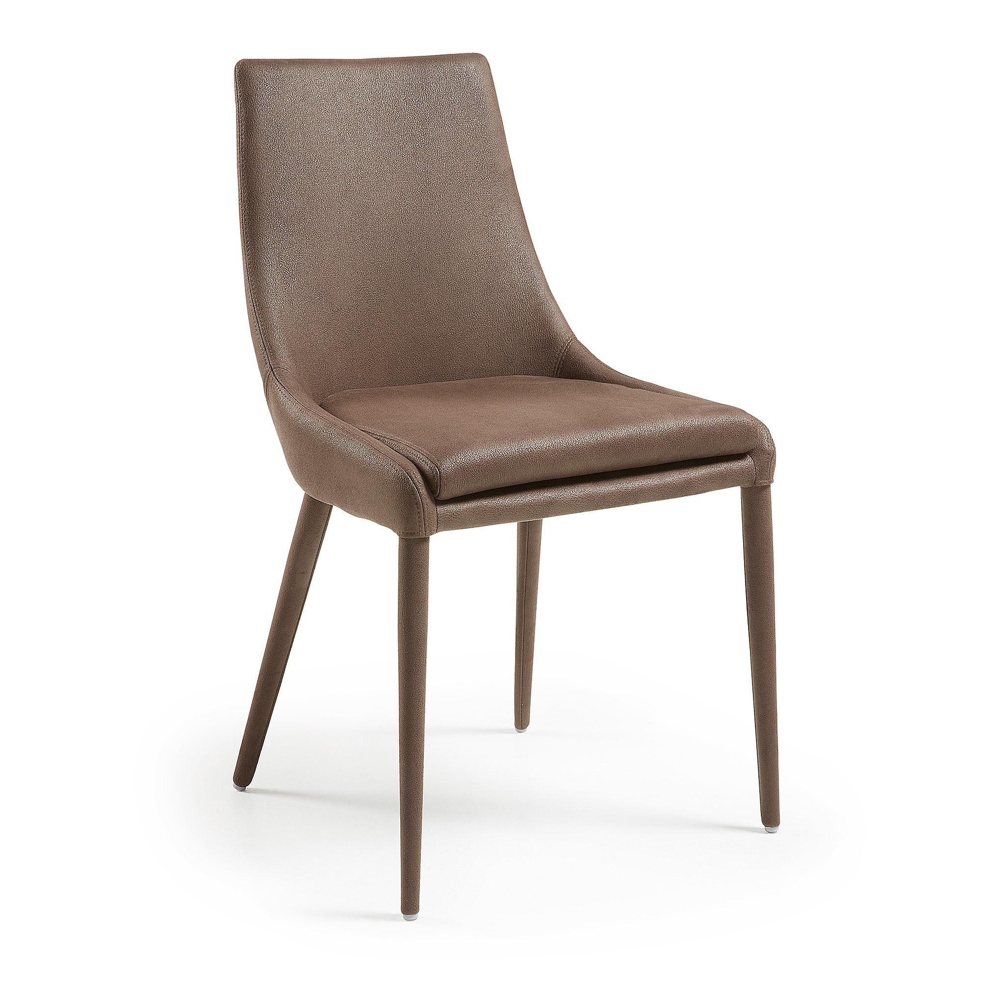 Kave home - chaise davi marron