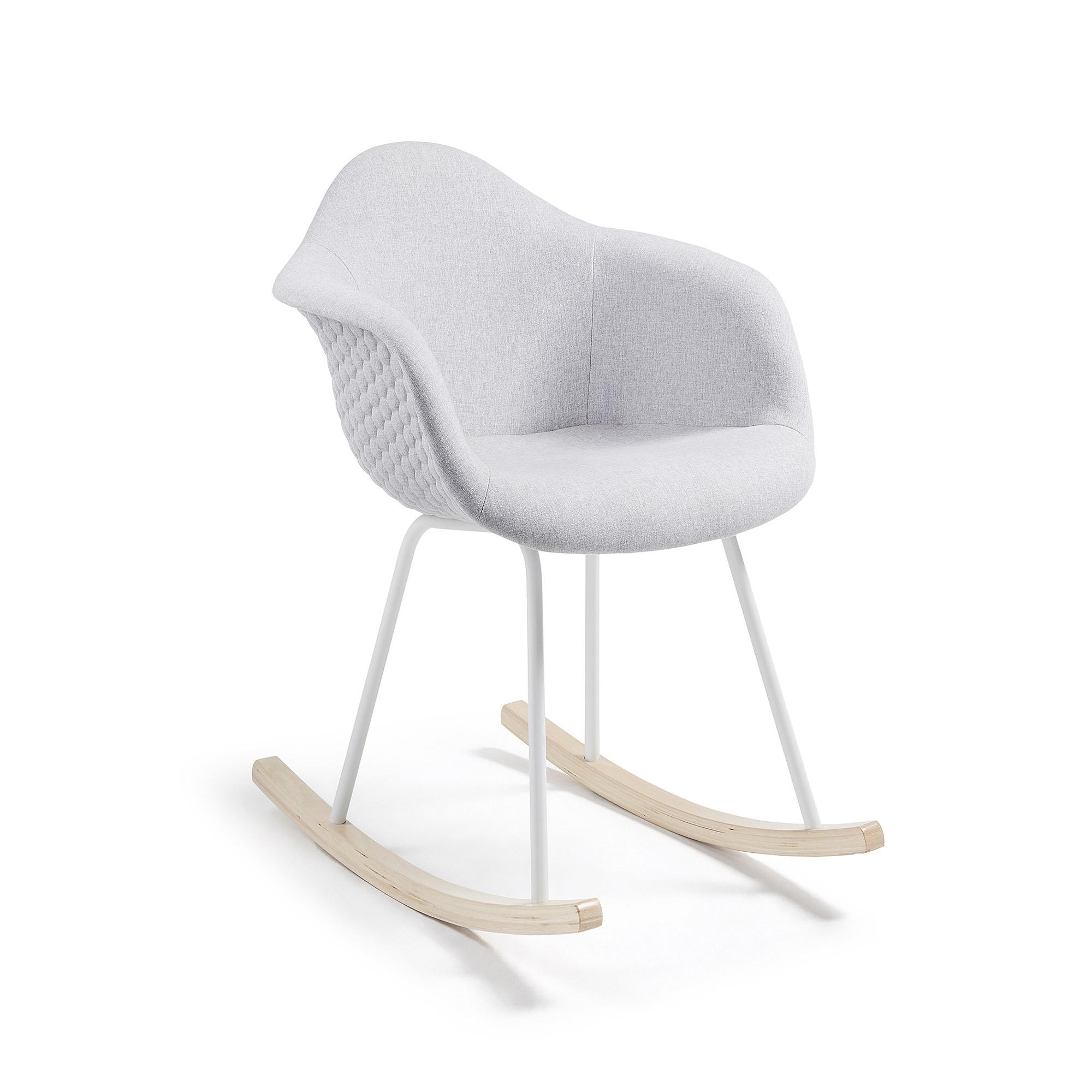 Kave home - fauteuil à bascule kevya,gris clair
