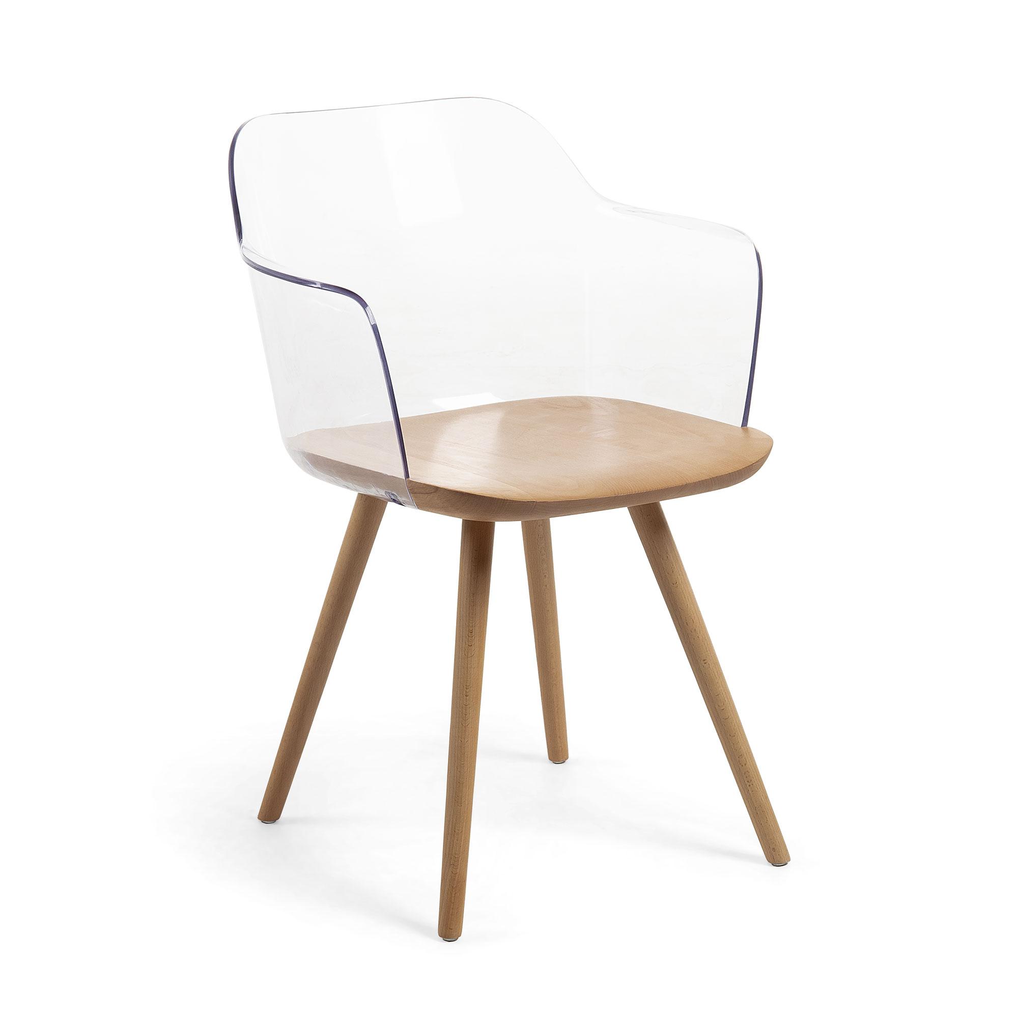 Kave home - chaise bjorg transparente
