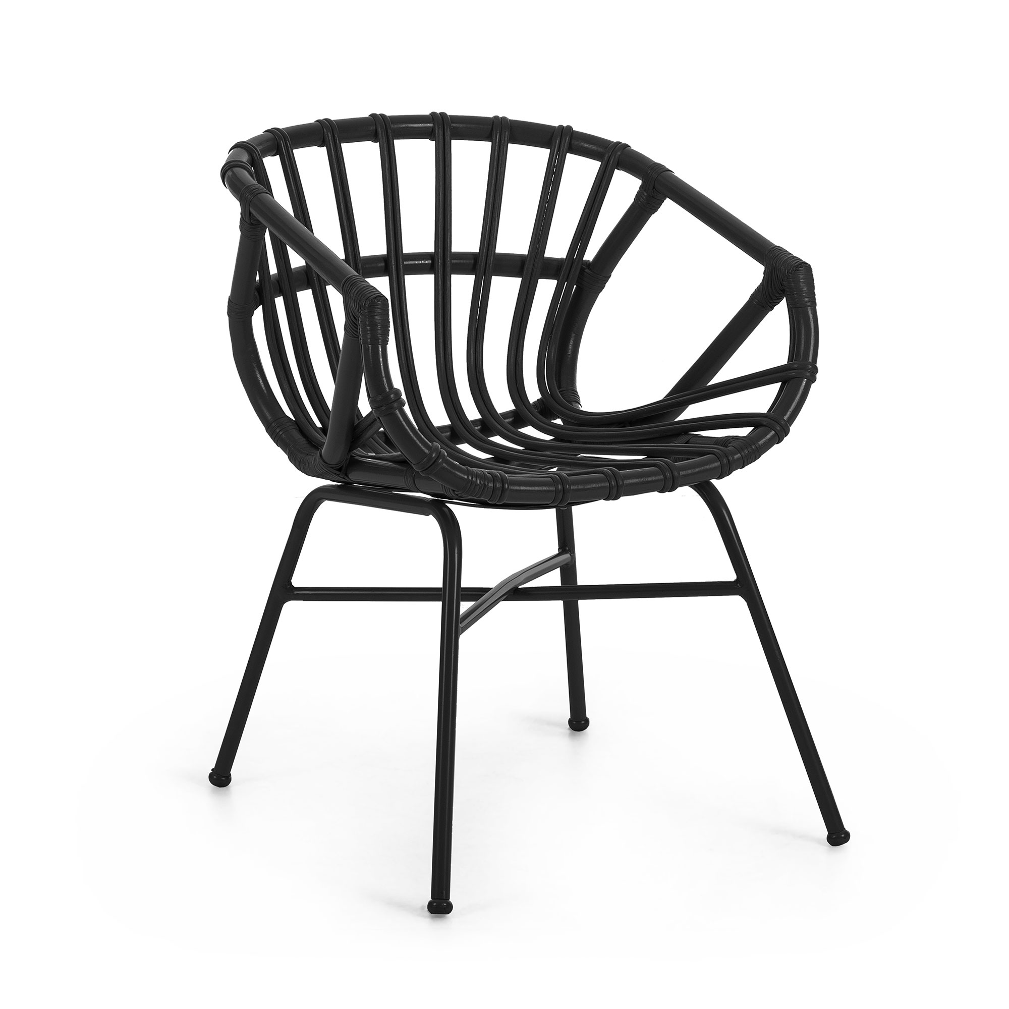 Kave home - chaise kaly noir