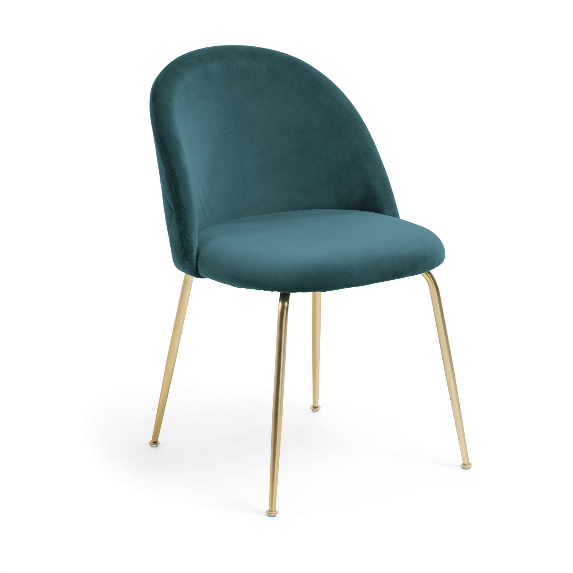 Kave home - chaise ivonne velours turquoise