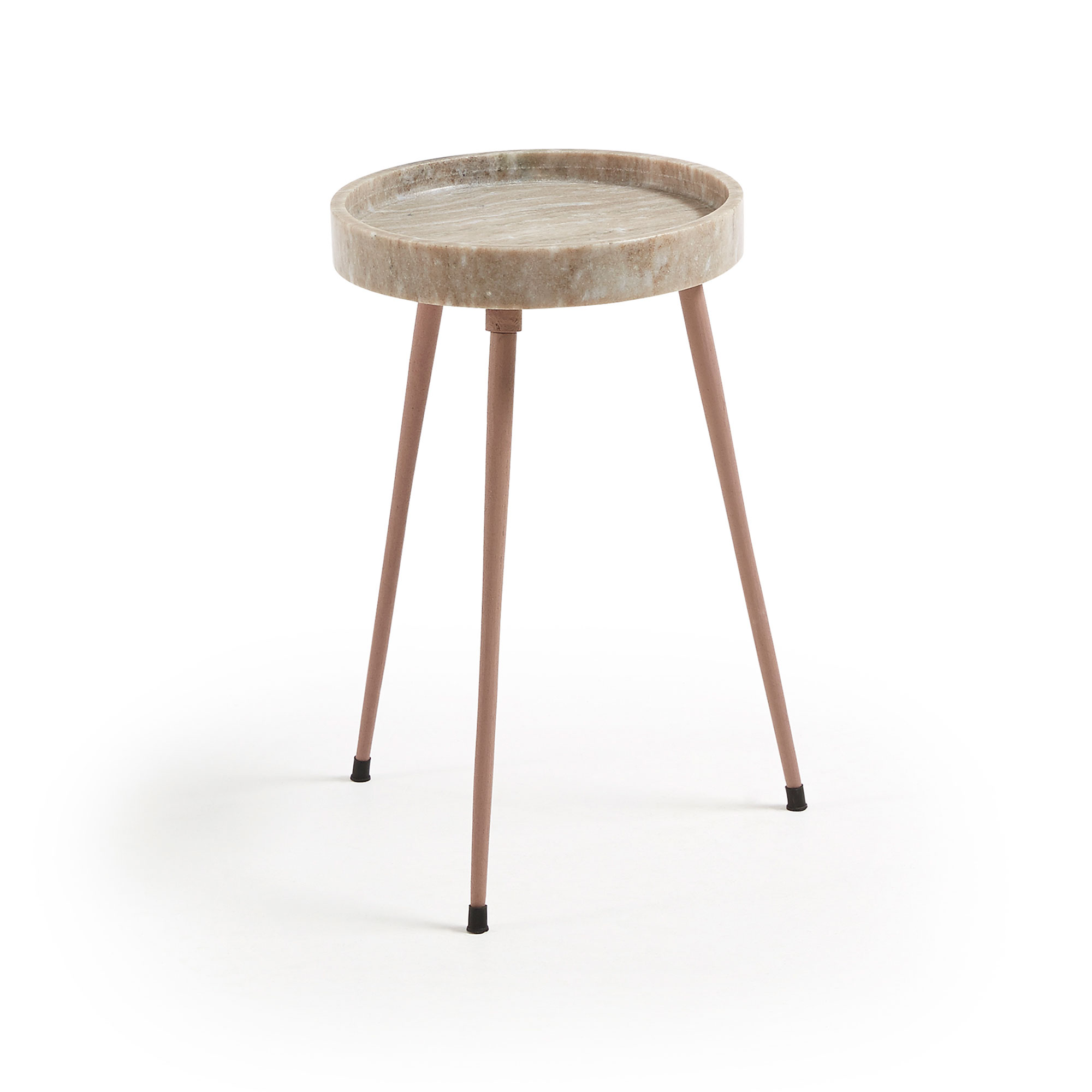 Kave home - table d'appoint rubie Ø 32 cm beige