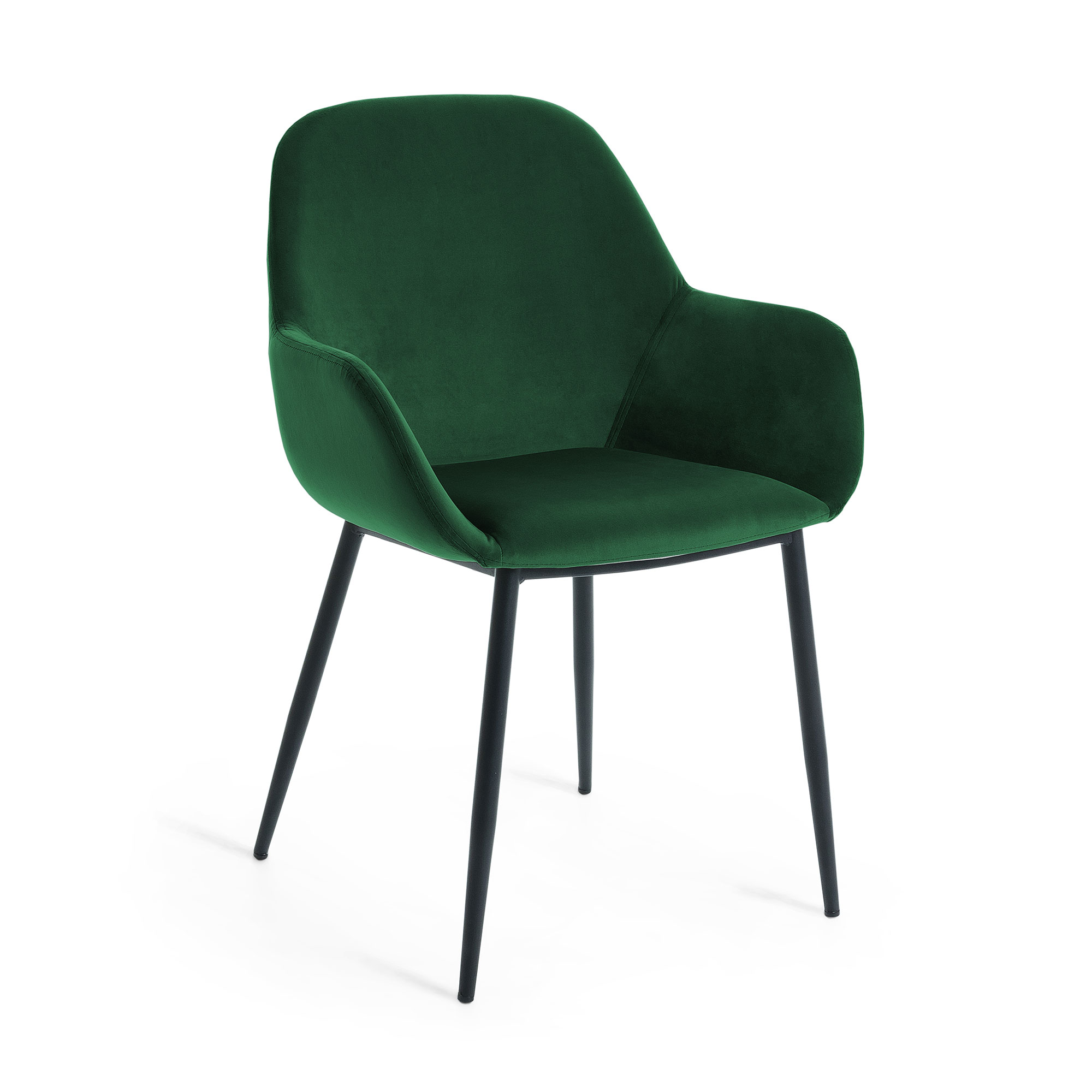 Kave home - chaise konna velours vert
