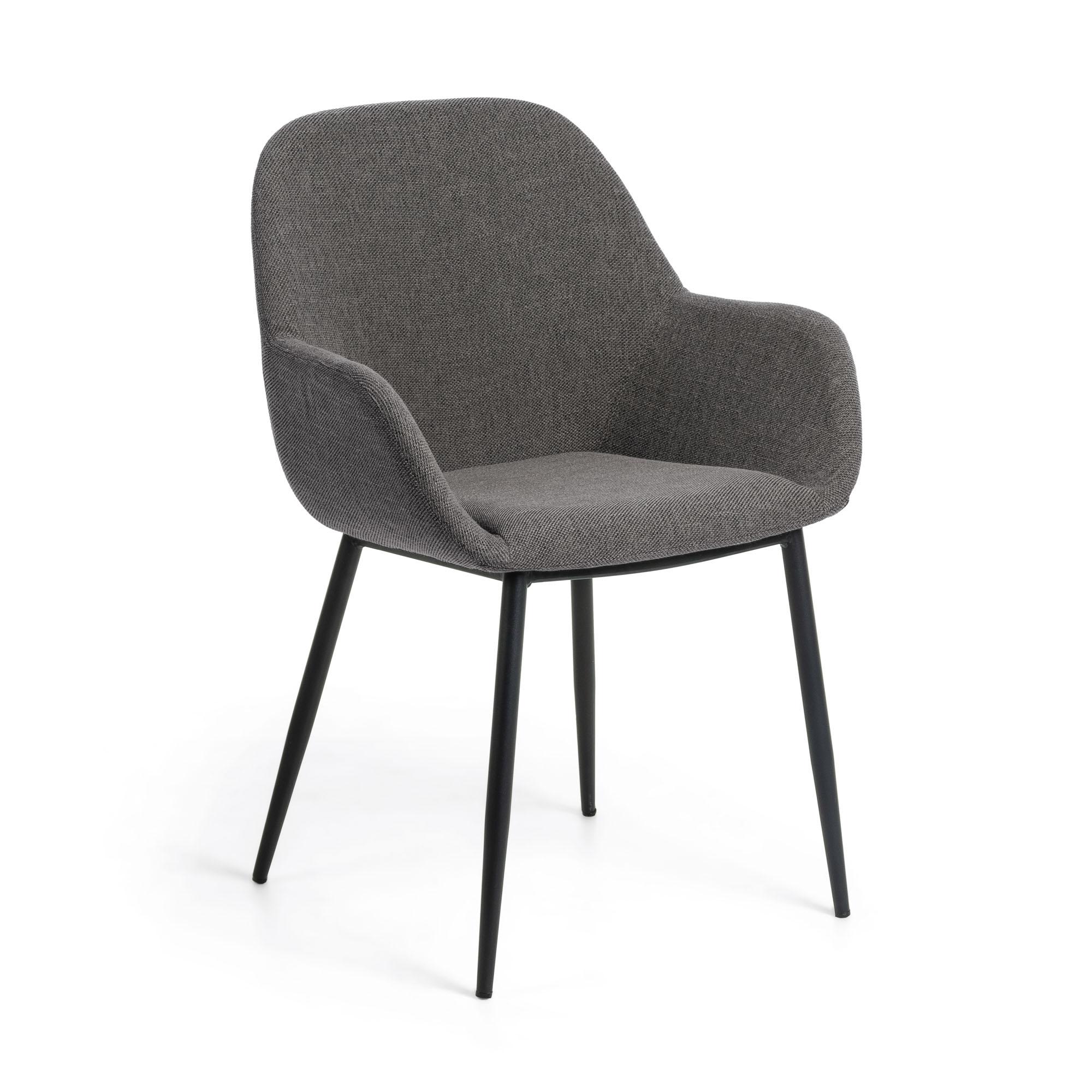 Kave home - chaise konna gris foncé