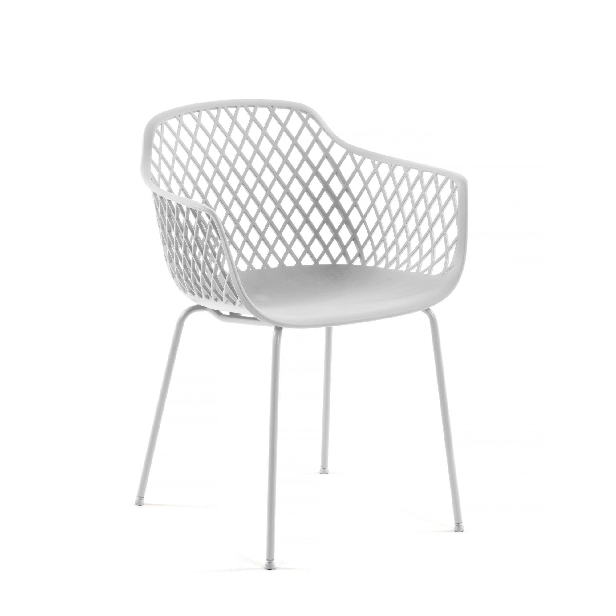 Kave home - chaise quinn blanc