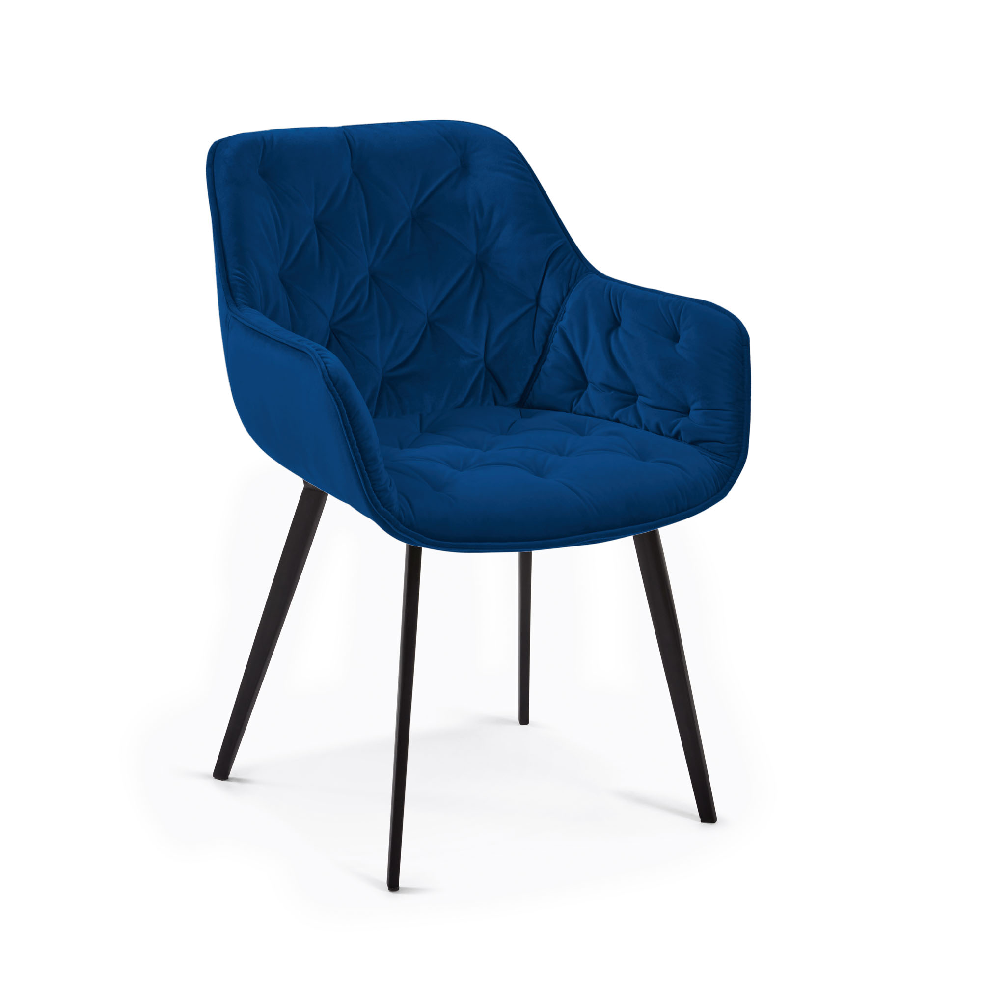 Kave home - chaise mulder velours bleu