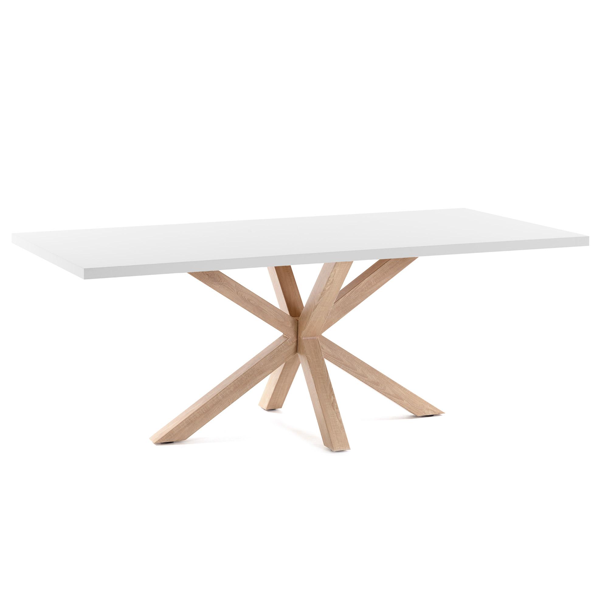 Kave home - table argo 160 cm mélamine blanc...