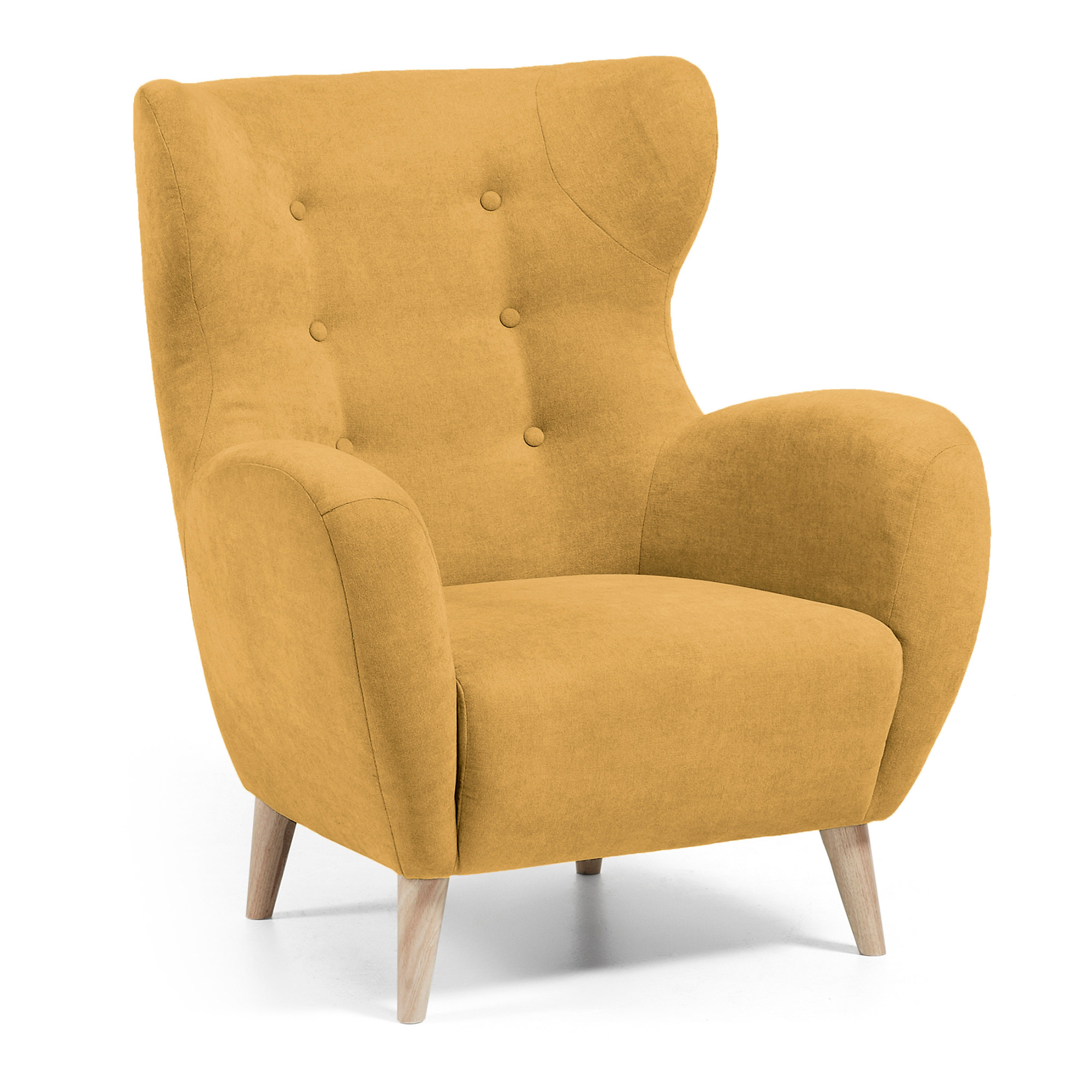 Kave home - fauteuil patio moutarde