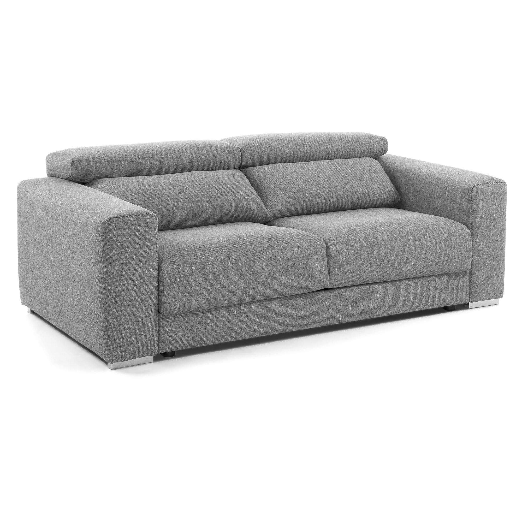 DELAVITA Dreisitzer »Mailand«, mit komfortablem Federkern-Sitz, wahlweise mit Move-Funktion, grau
